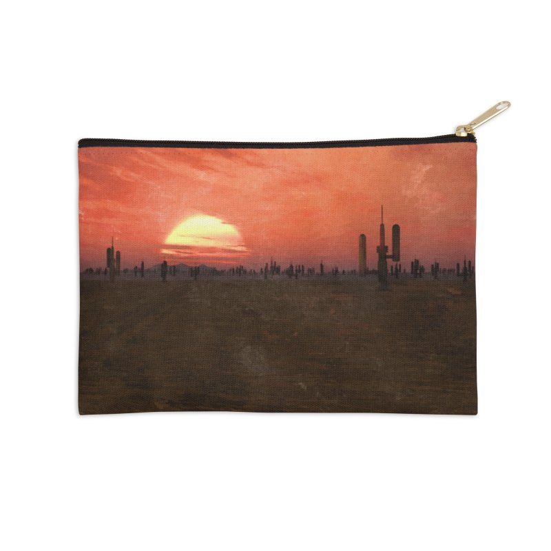 Space Desert Accessories Zip Pouch by Conceive3D