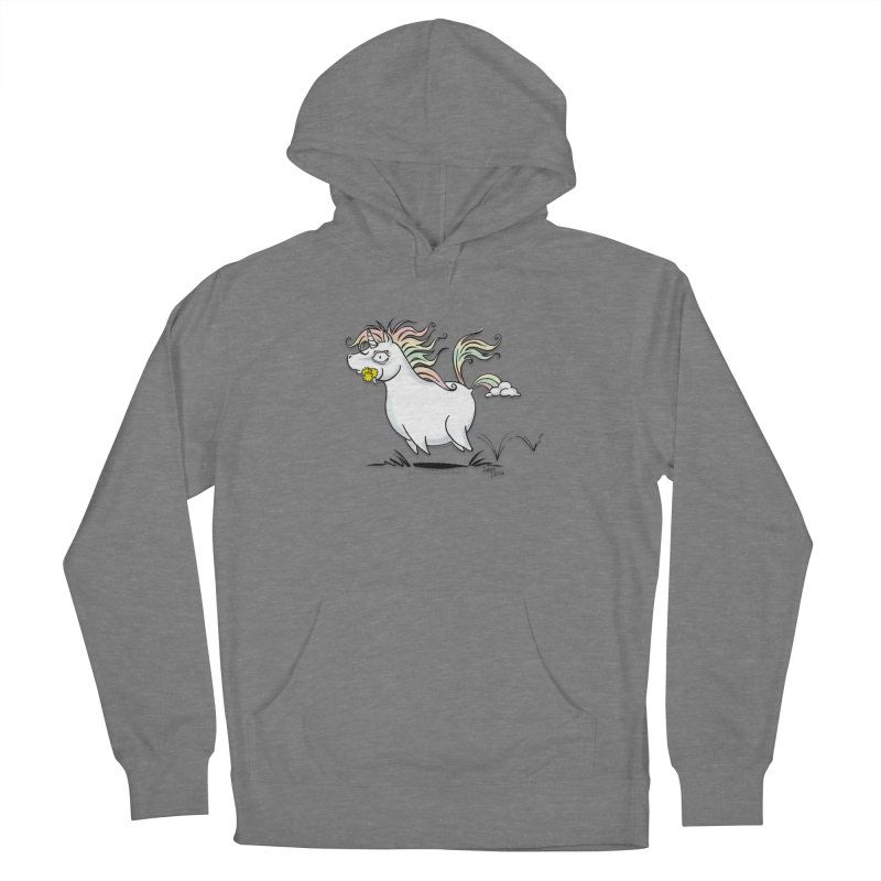 Farting Unicorn Men's French Terry Pullover Hoody by conniefaye's Artist Shop