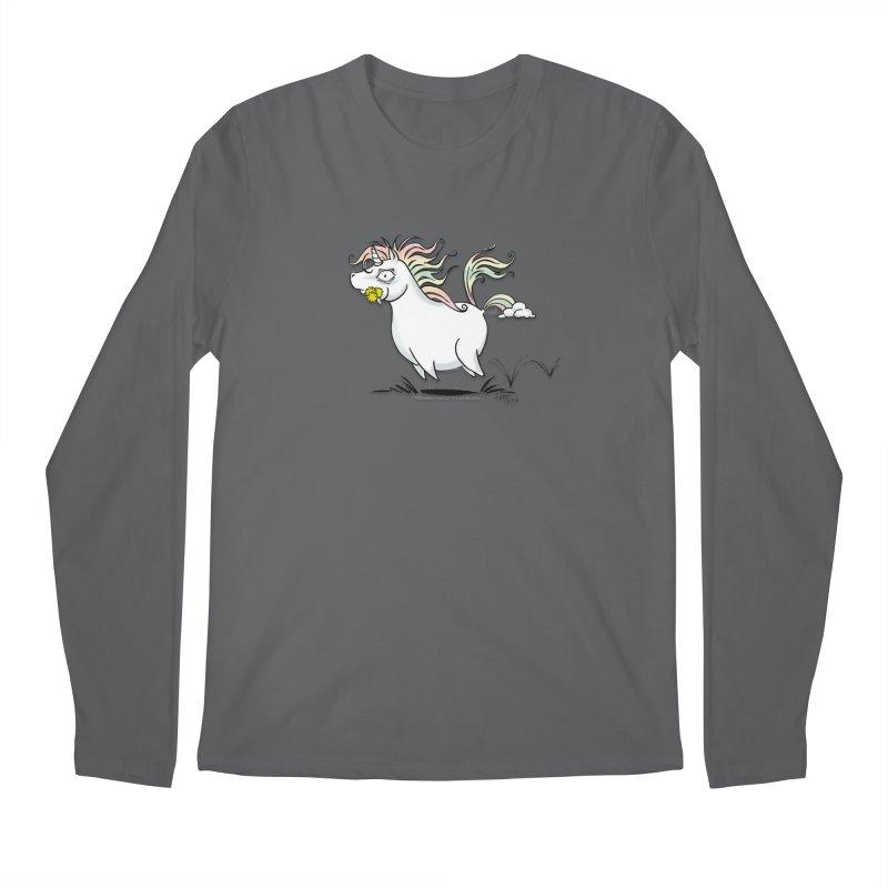 Farting Unicorn Men's Regular Longsleeve T-Shirt by conniefaye's Artist Shop