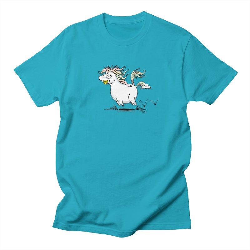 Farting Unicorn Women's Regular Unisex T-Shirt by conniefaye's Artist Shop