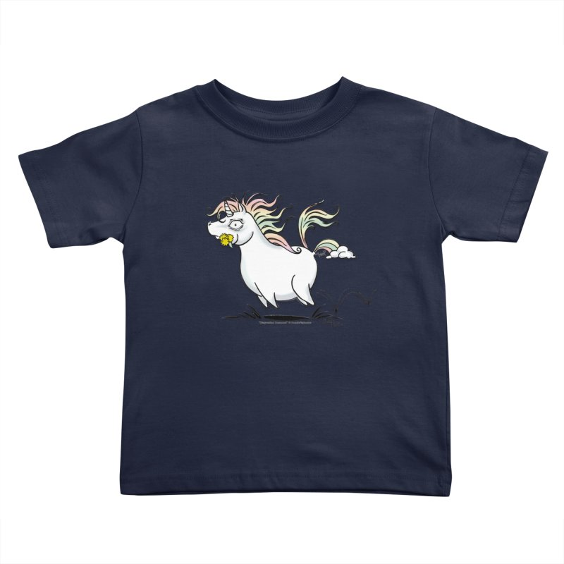 Farting Unicorn Kids Toddler T-Shirt by conniefaye's Artist Shop