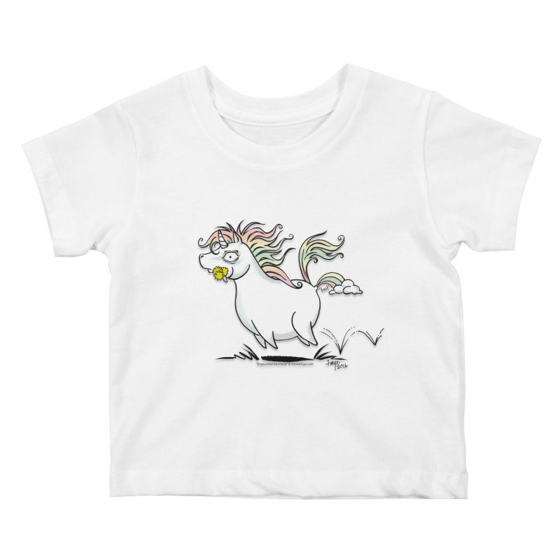 Farting Unicorn Kids Baby T-Shirt by conniefaye's Artist Shop