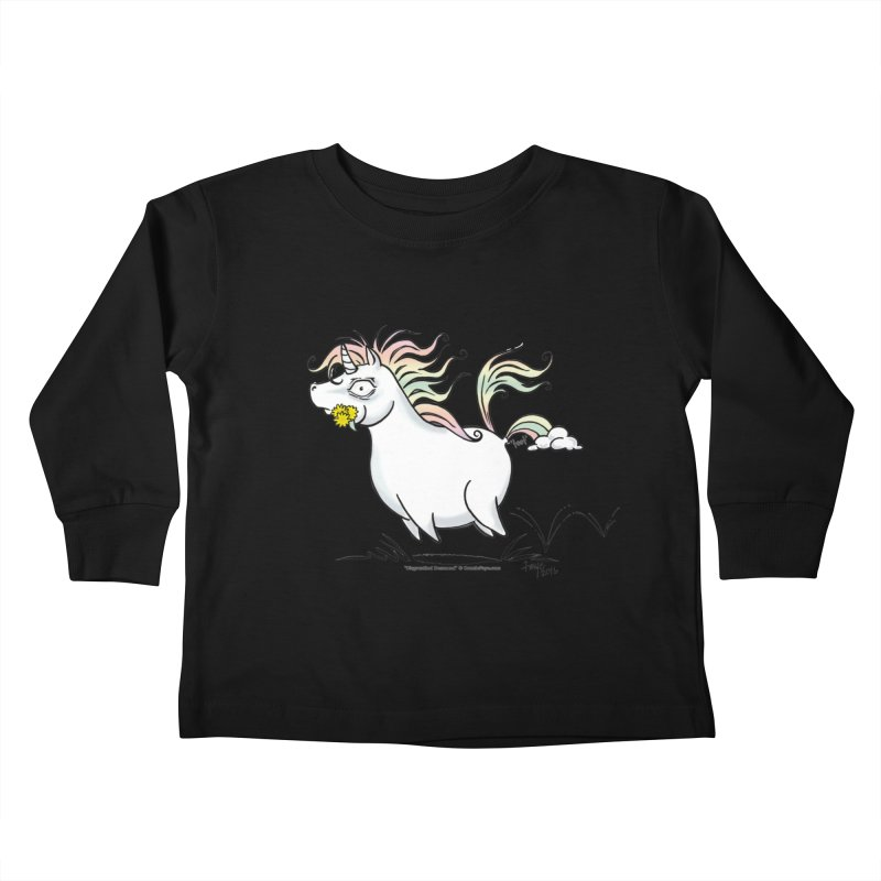 Farting Unicorn Kids Toddler Longsleeve T-Shirt by conniefaye's Artist Shop