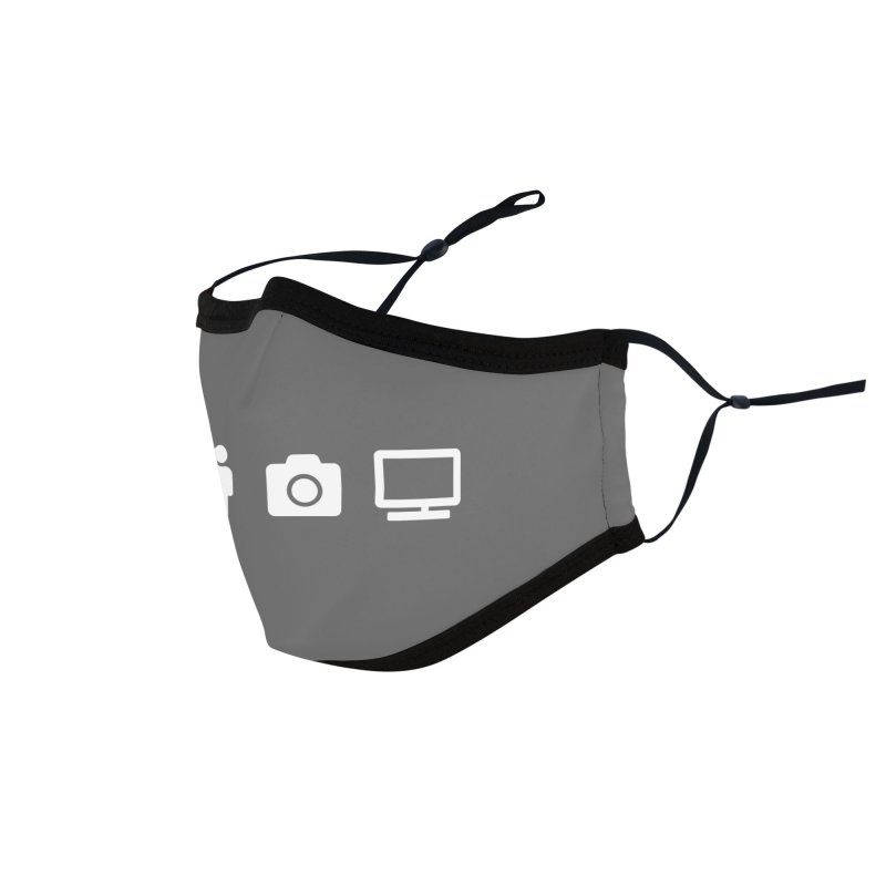 Person Woman Man Camera TV Accessories Face Mask by Content Pending - DrunkCast Live! Store