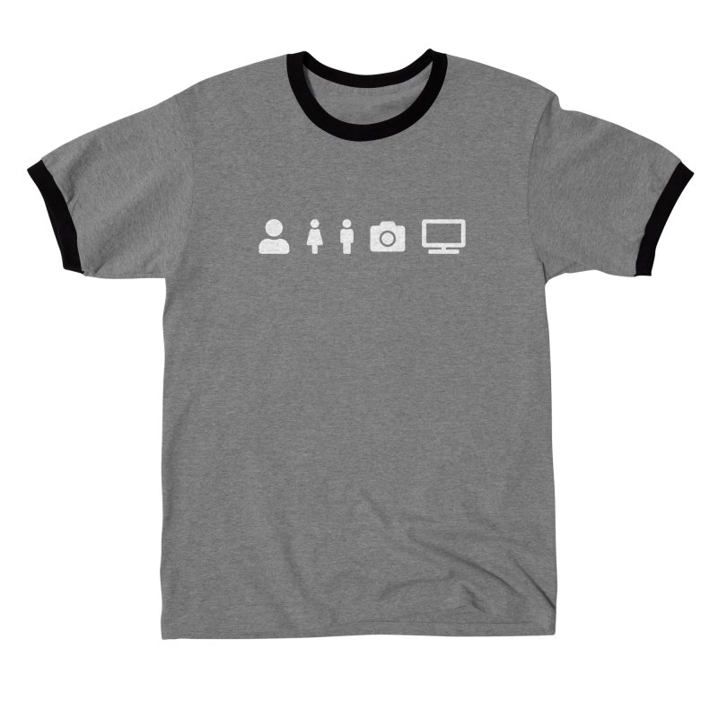 Person Woman Man Camera TV Men's T-Shirt by Content Pending - DrunkCast Live! Store