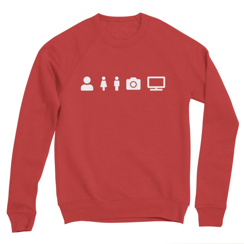 Person Woman Man Camera TV Women's Sweatshirt by Content Pending - DrunkCast Live! Store