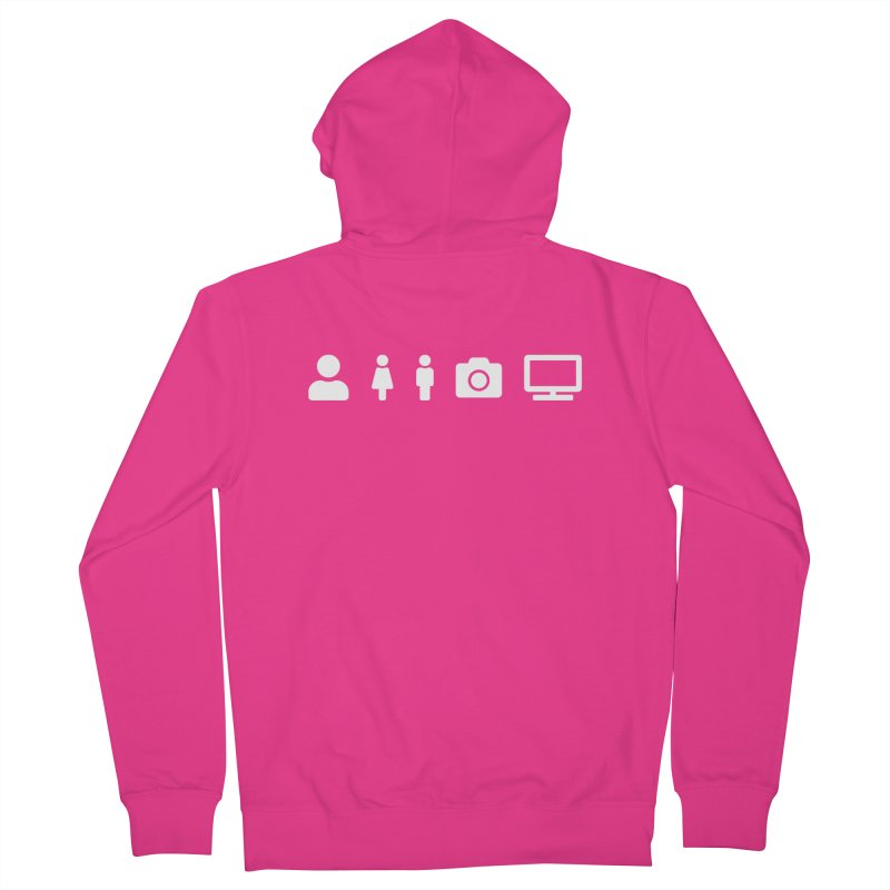 Person Woman Man Camera TV Men's Zip-Up Hoody by Content Pending - DrunkCast Live! Store