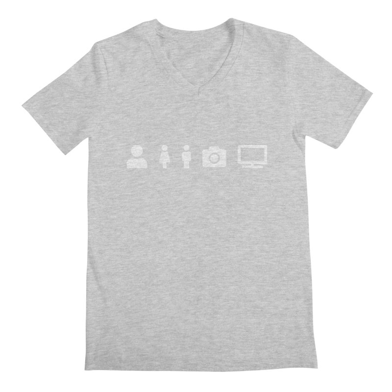 Person Woman Man Camera TV Men's V-Neck by Content Pending - DrunkCast Live! Store