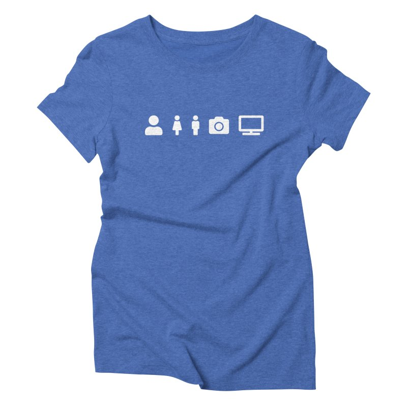 Person Woman Man Camera TV Women's T-Shirt by Content Pending - DrunkCast Live! Store