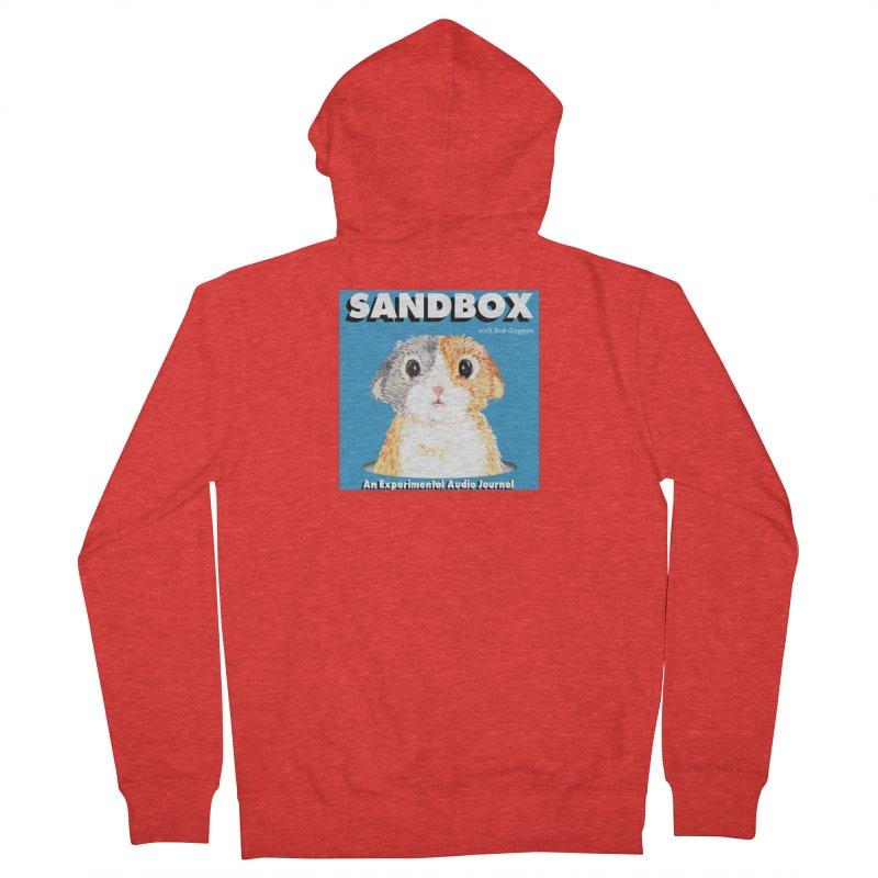 SANDBOX Logo Men's Zip-Up Hoody by Content Pending - DrunkCast Live! Store