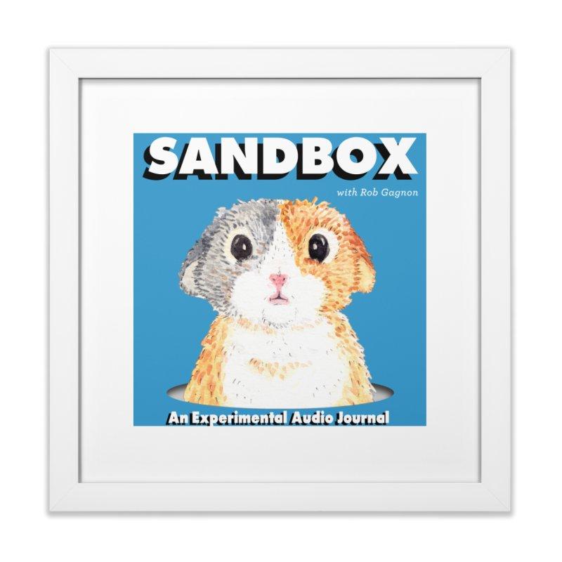 SANDBOX Logo Home Framed Fine Art Print by Content Pending - DrunkCast Live! Store