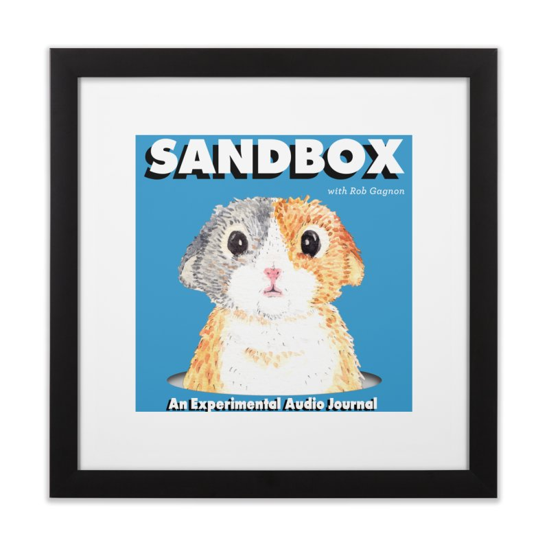 SANDBOX Logo Home Framed Fine Art Print by Content Pending - DrunkCast Live! Store