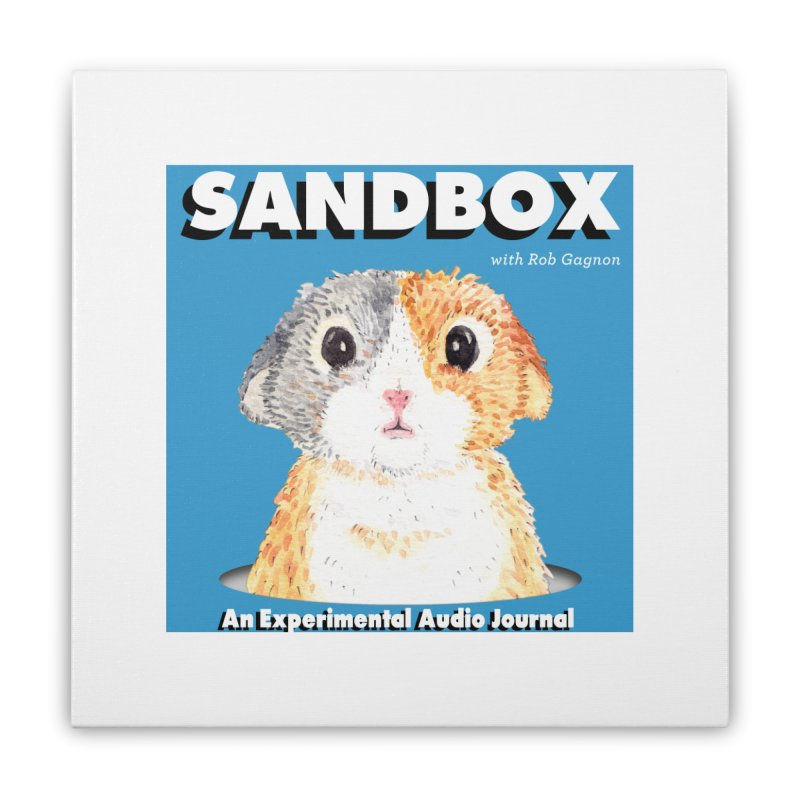 SANDBOX Logo Home Stretched Canvas by Content Pending - DrunkCast Live! Store