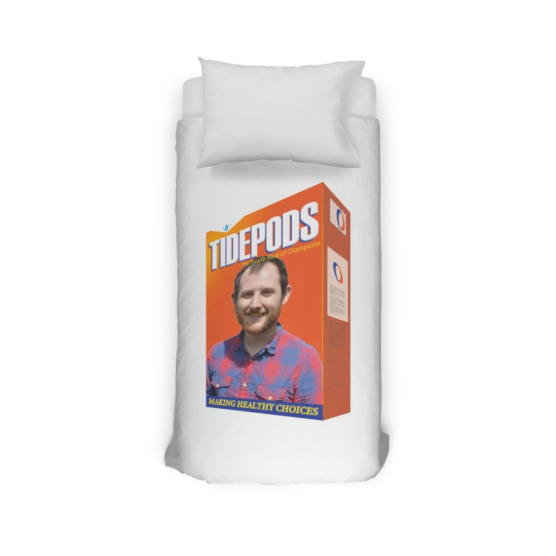 The J Stands for Performance Home Duvet by Content Pending - DrunkCast Live! Store