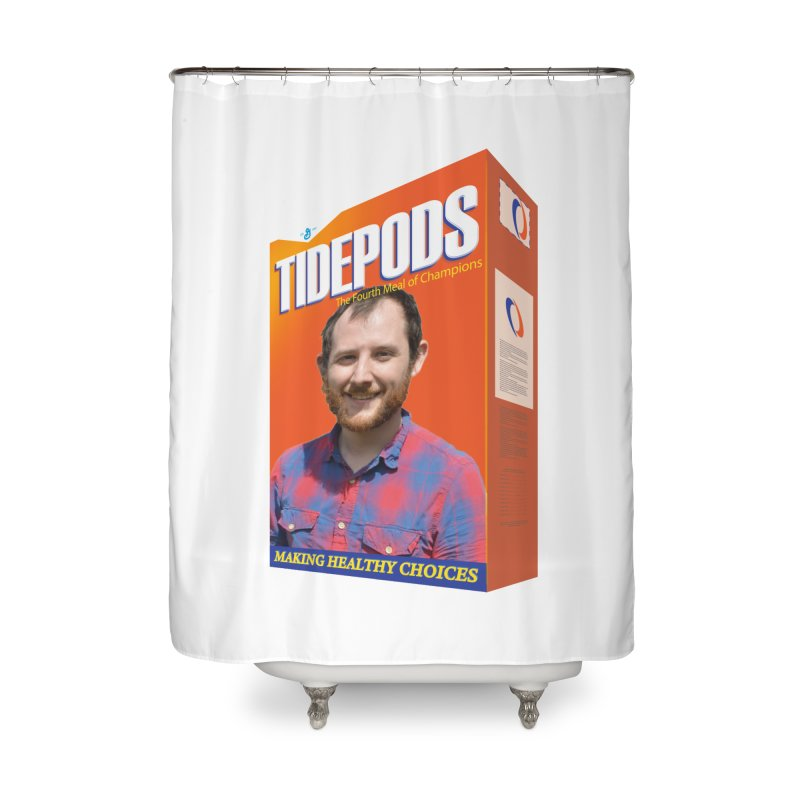 The J Stands for Performance Home Shower Curtain by Content Pending - DrunkCast Live! Store