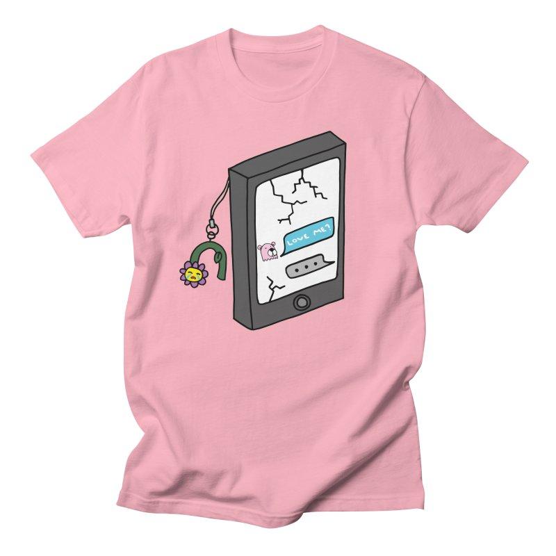 LOVE ME? Men's Regular T-Shirt by controlcenter's Artist Shop