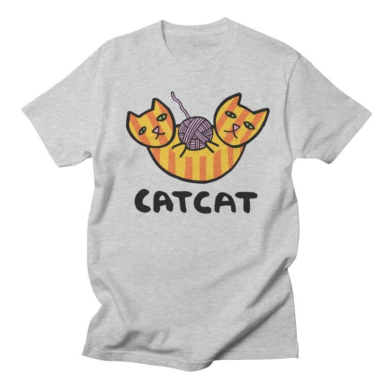 CATCAT ENJOYS YARN Men's Regular T-Shirt by controlcenter's Artist Shop