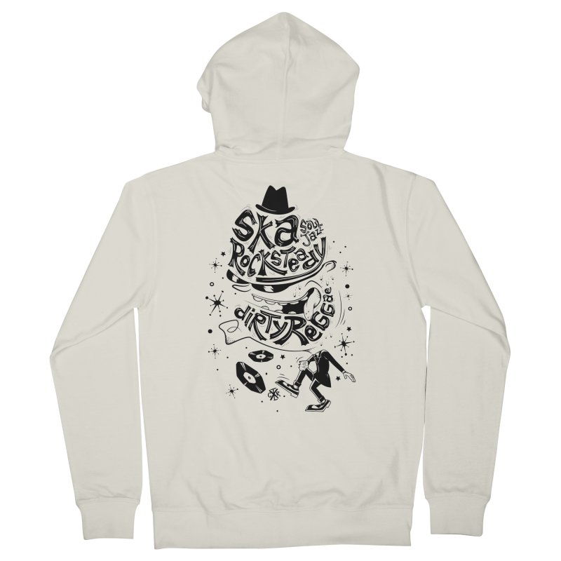 Rude! Men's French Terry Zip-Up Hoody by controlx's Artist Shop