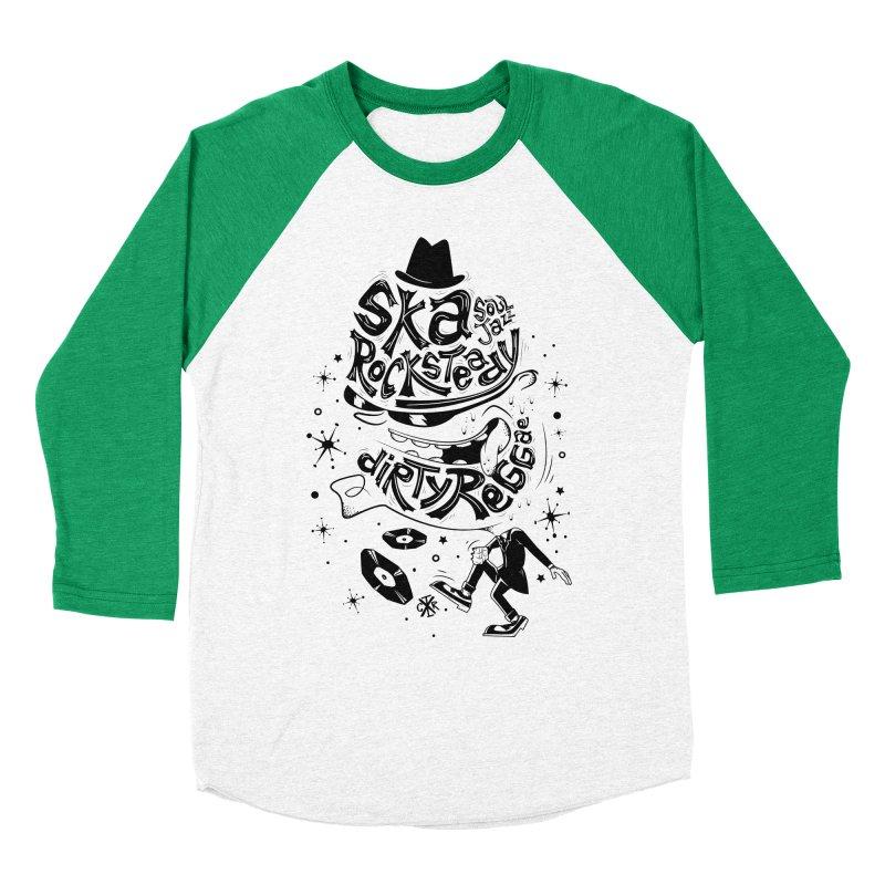 Rude! Women's Baseball Triblend Longsleeve T-Shirt by controlx's Artist Shop