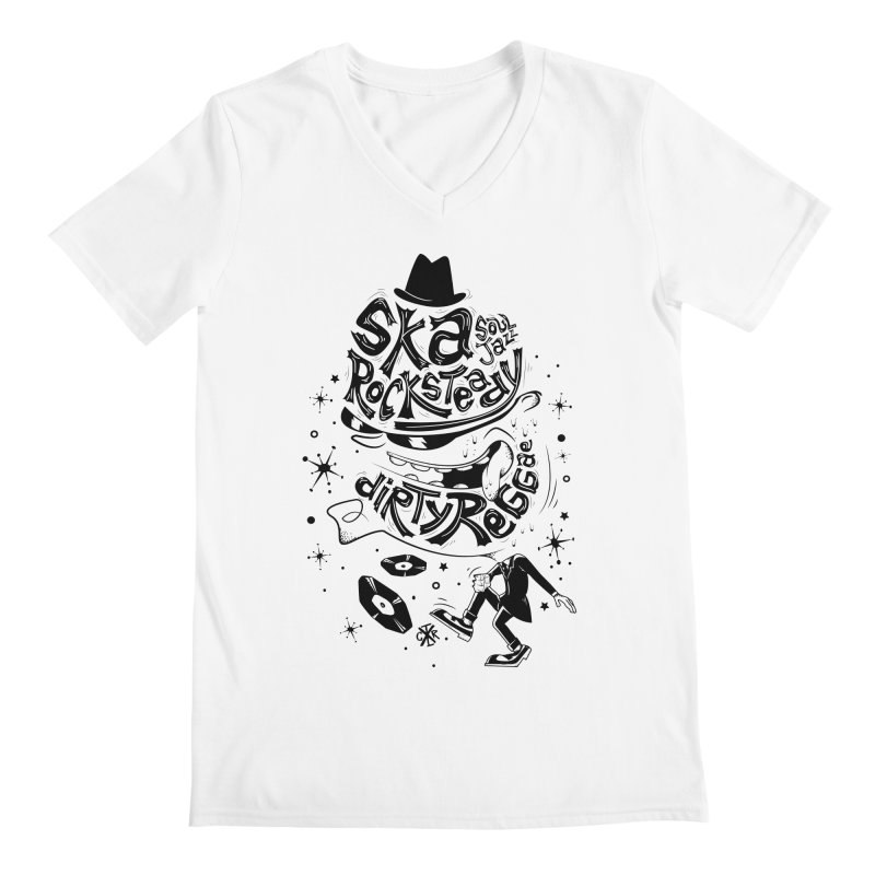 Rude! Men's V-Neck by controlx's Artist Shop