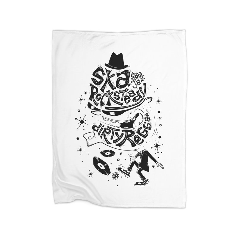 Rude! Home Fleece Blanket Blanket by controlx's Artist Shop
