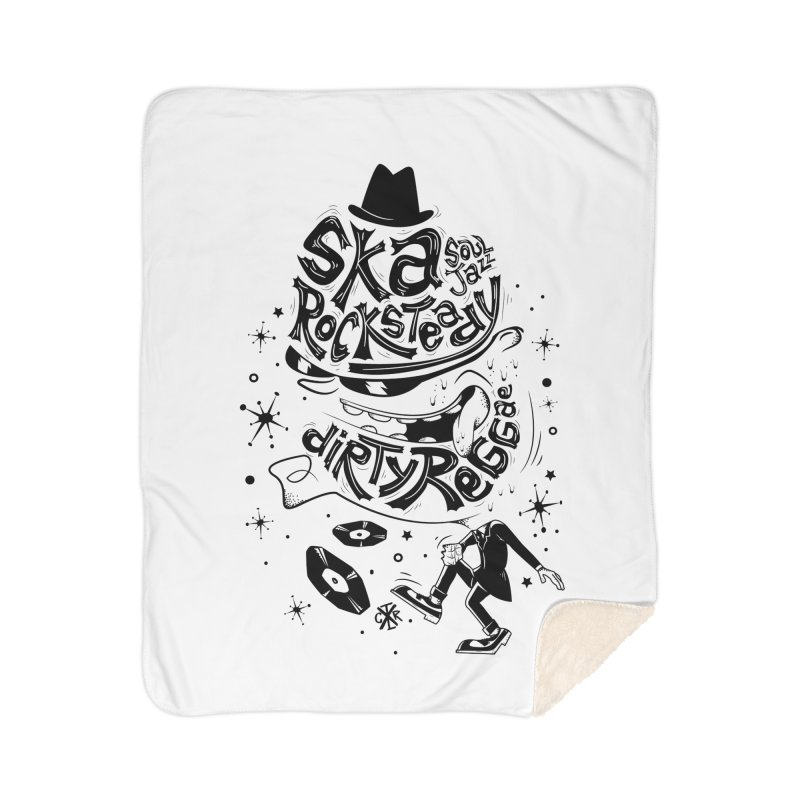 Rude! Home Sherpa Blanket Blanket by controlx's Artist Shop