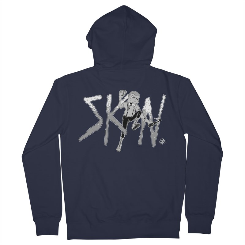 Skin Men's French Terry Zip-Up Hoody by controlx's Artist Shop