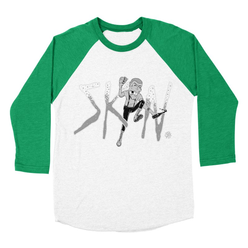 Skin Men's Baseball Triblend Longsleeve T-Shirt by controlx's Artist Shop