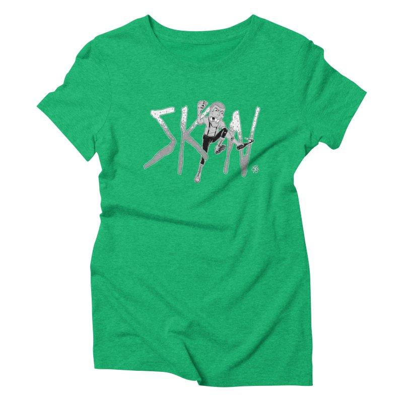 Skin Women's Triblend T-Shirt by controlx's Artist Shop