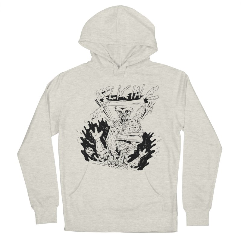 Slicing Men's French Terry Pullover Hoody by controlx's Artist Shop