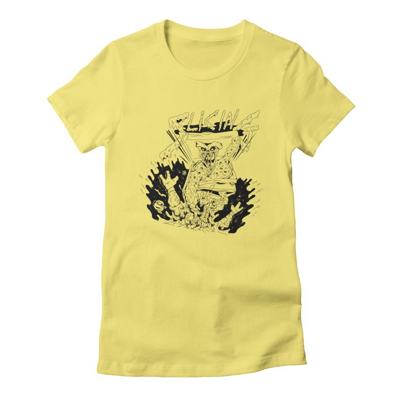 Slicing Women's Fitted T-Shirt by controlx's Artist Shop