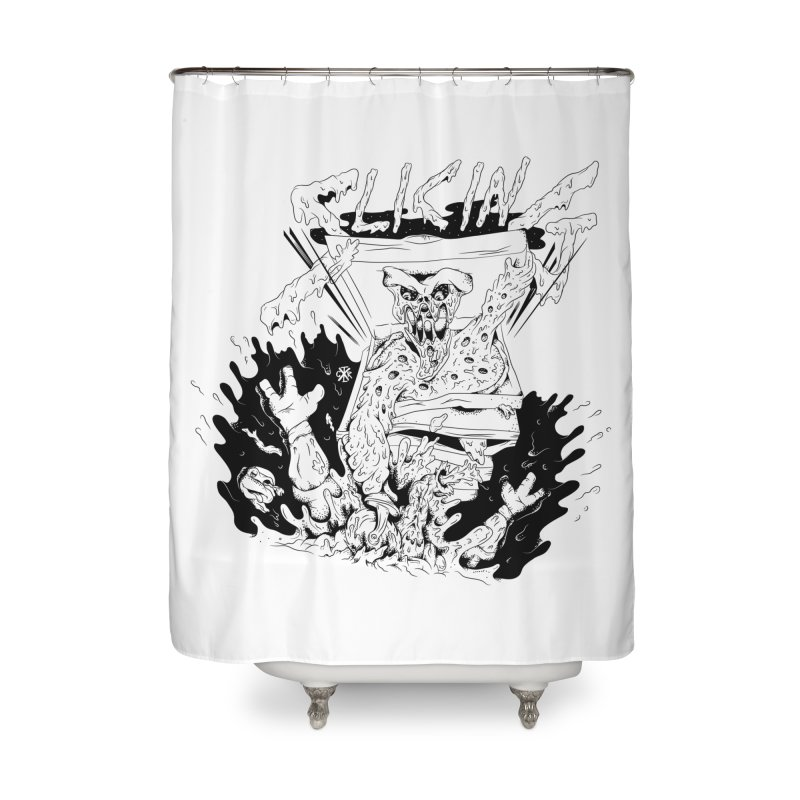 Slicing Home Shower Curtain by controlx's Artist Shop
