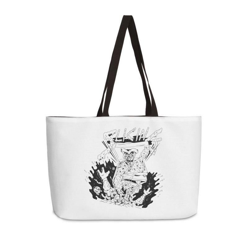 Slicing Accessories Weekender Bag Bag by controlx's Artist Shop