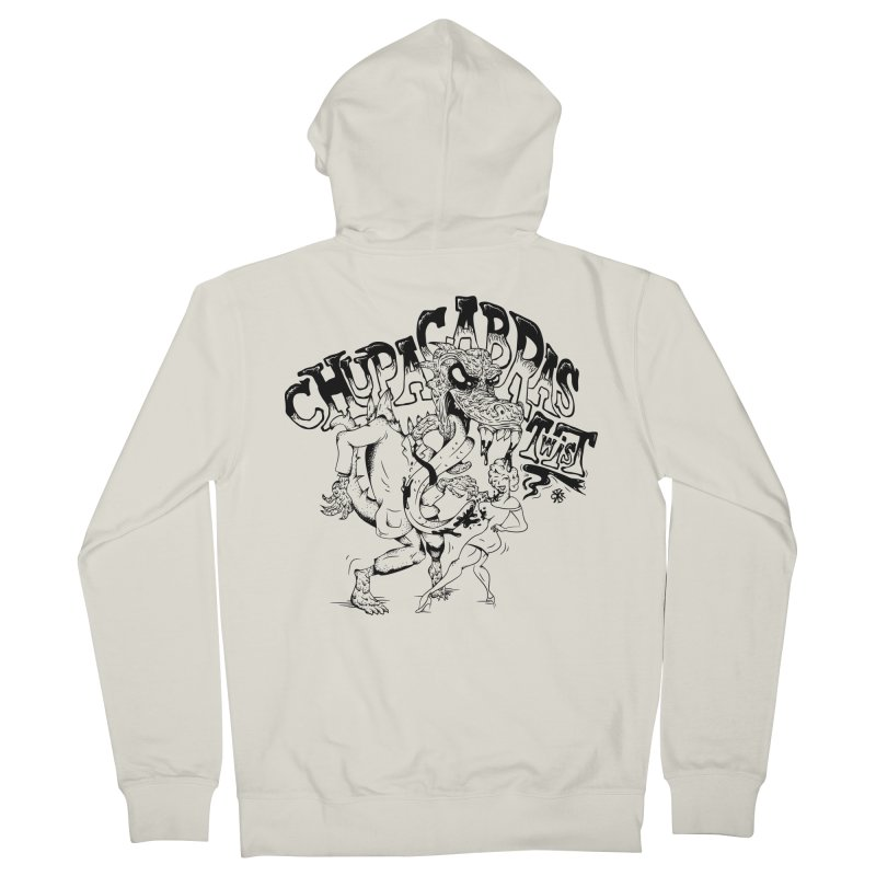 Chupacabras Twist Women's French Terry Zip-Up Hoody by controlx's Artist Shop