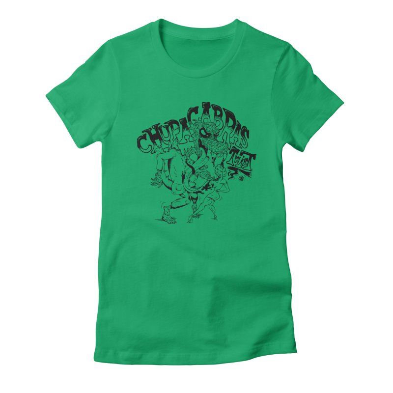 Chupacabras Twist Women's Fitted T-Shirt by controlx's Artist Shop