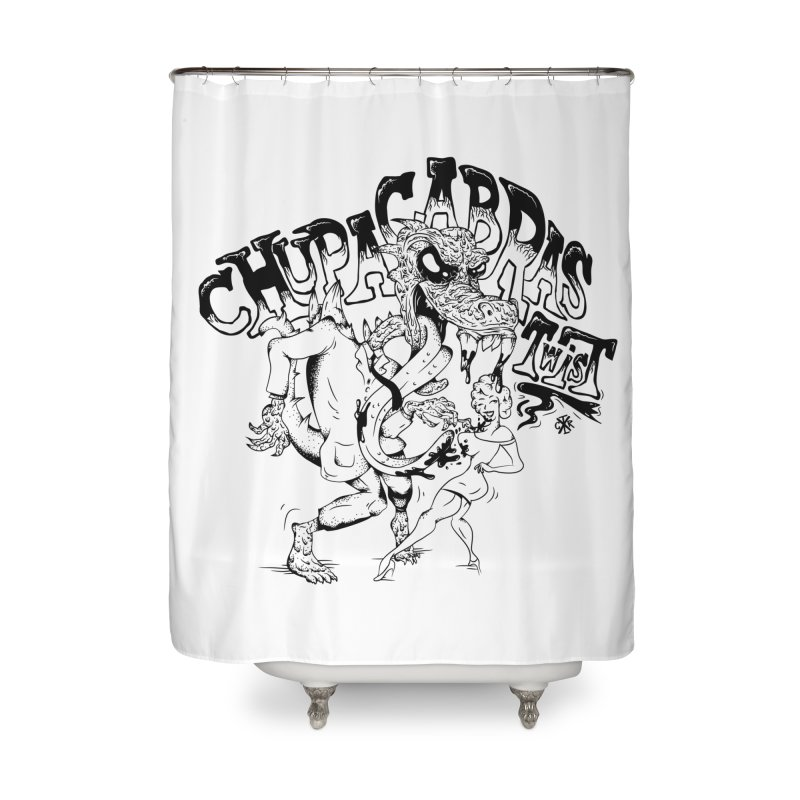 Chupacabras Twist Home Shower Curtain by controlx's Artist Shop