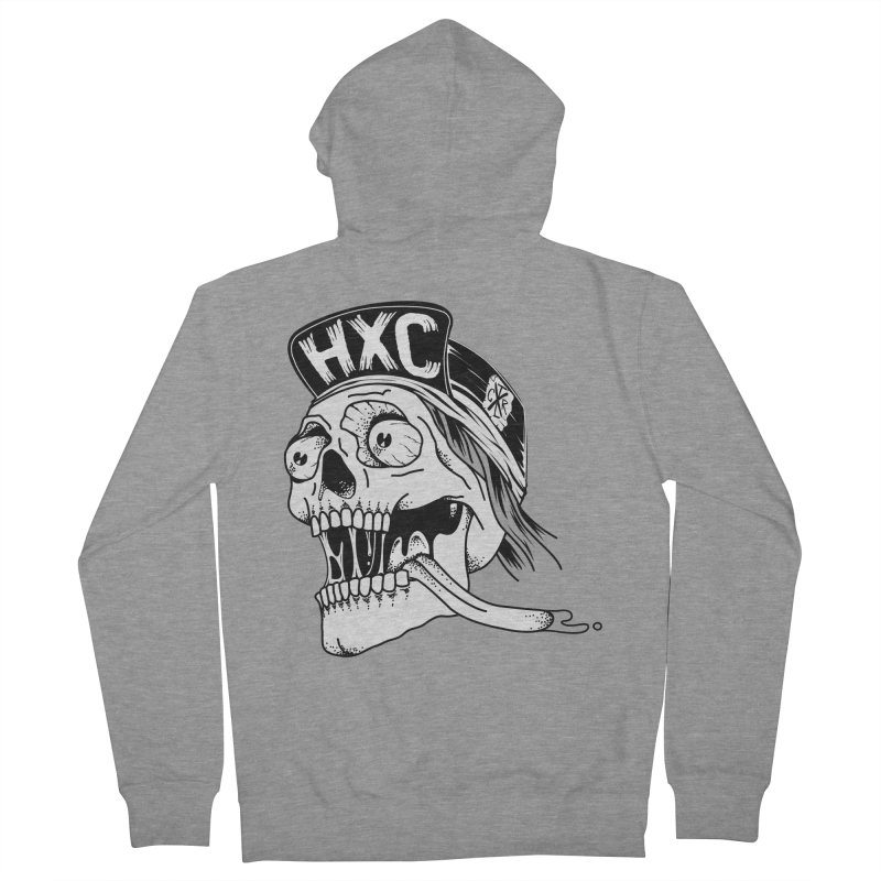 HxC Skull Women's French Terry Zip-Up Hoody by controlx's Artist Shop