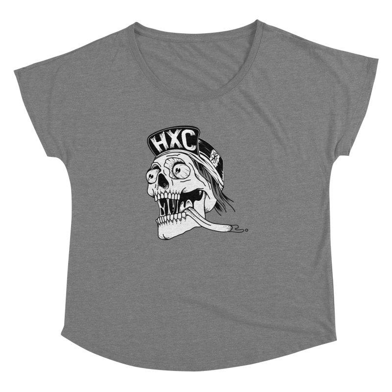 HxC Skull Women's Dolman Scoop Neck by controlx's Artist Shop