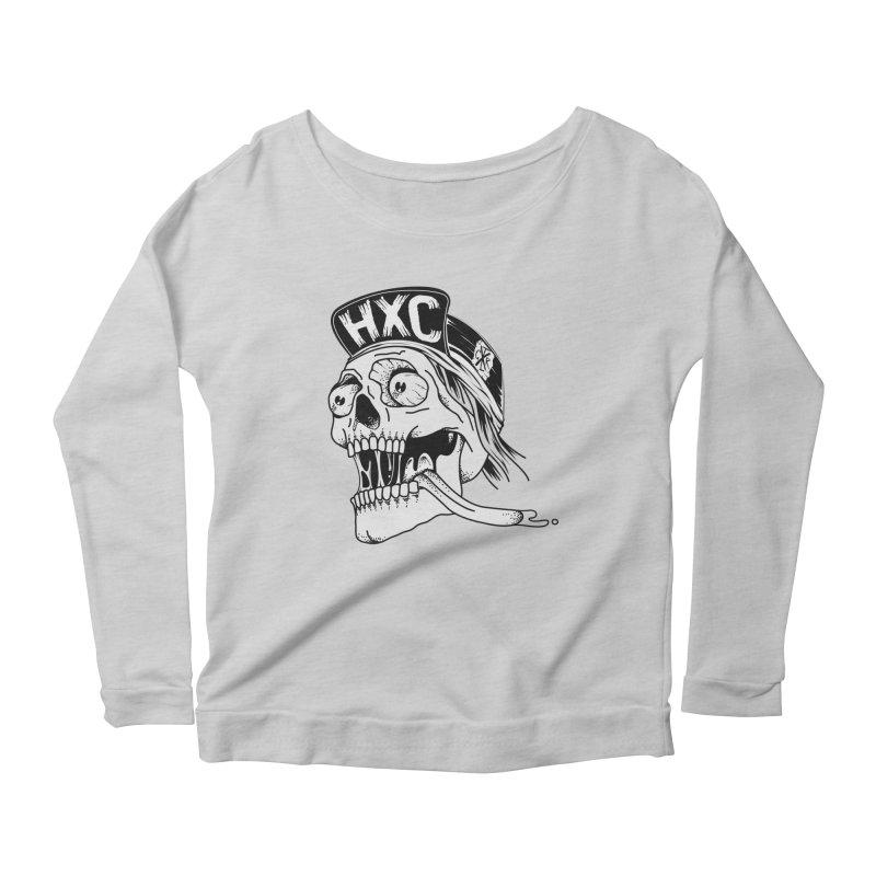 HxC Skull Women's Scoop Neck Longsleeve T-Shirt by controlx's Artist Shop
