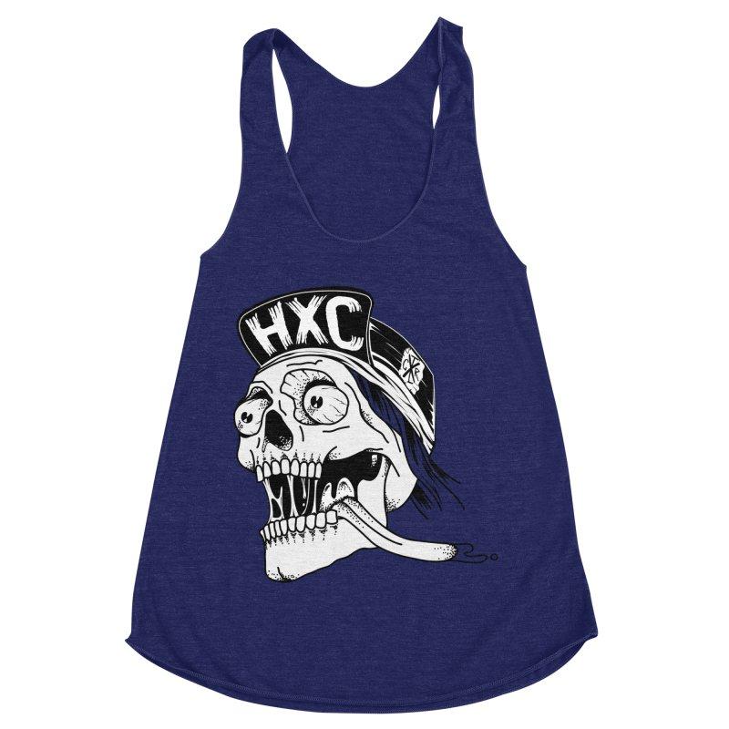 HxC Skull Women's Racerback Triblend Tank by controlx's Artist Shop