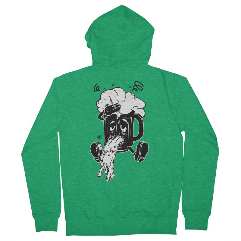 Beer Drunk! Women's French Terry Zip-Up Hoody by controlx's Artist Shop