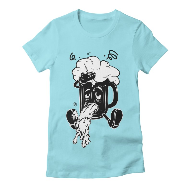 Beer Drunk! Women's Fitted T-Shirt by controlx's Artist Shop