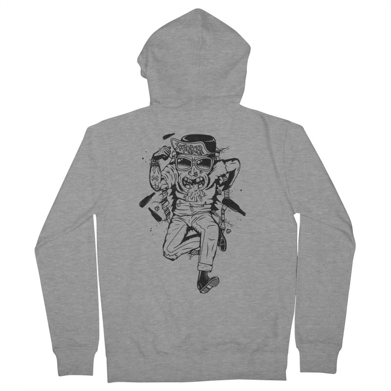 Skanker Men's French Terry Zip-Up Hoody by controlx's Artist Shop