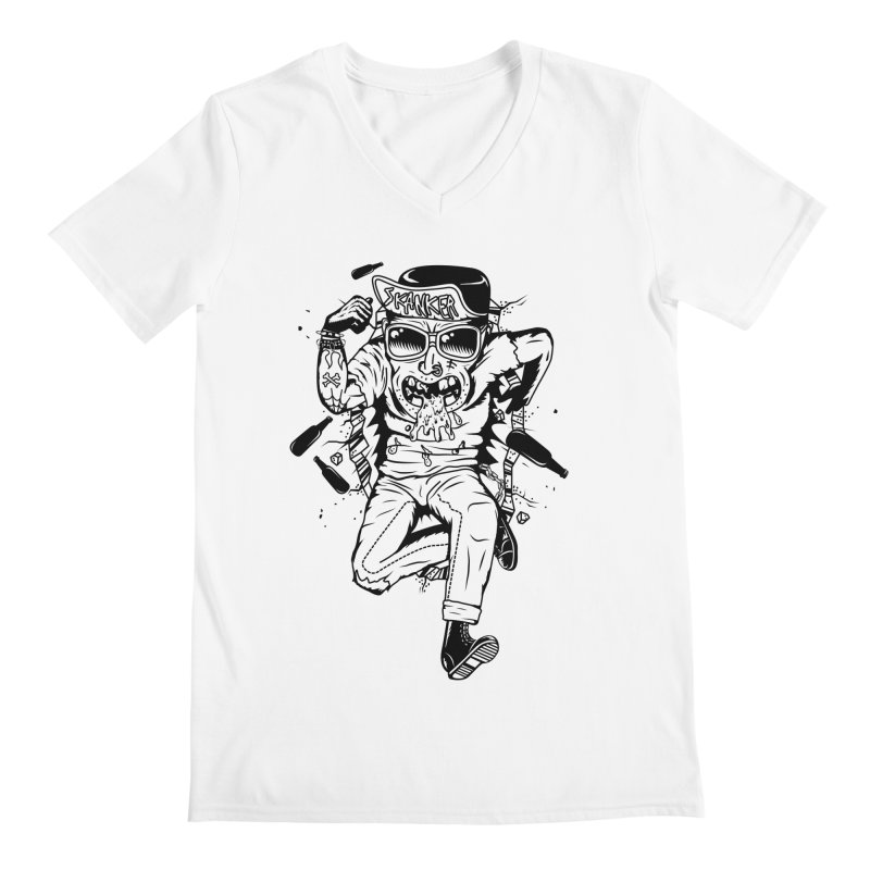 Skanker Men's V-Neck by controlx's Artist Shop