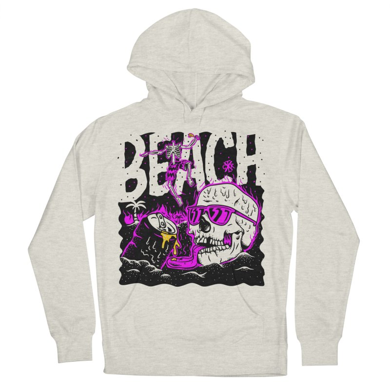 Beach Women's French Terry Pullover Hoody by controlx's Artist Shop