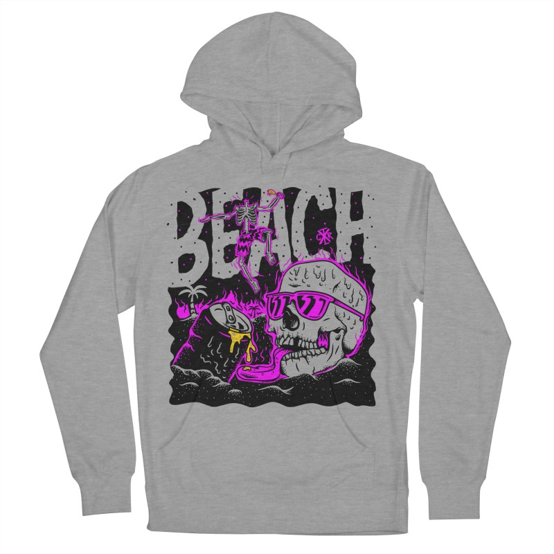 Beach Men's French Terry Pullover Hoody by controlx's Artist Shop