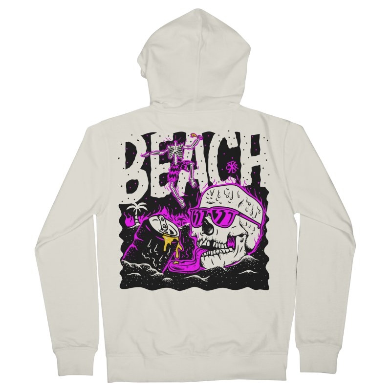 Beach Men's French Terry Zip-Up Hoody by controlx's Artist Shop