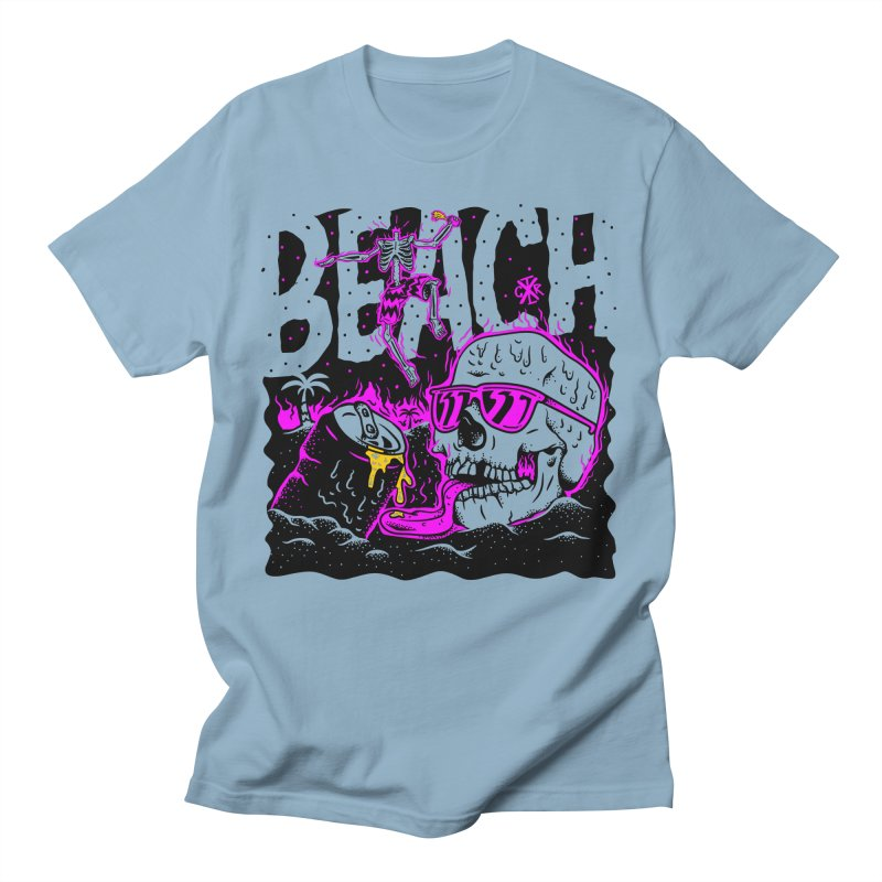 Beach Men's Regular T-Shirt by controlx's Artist Shop