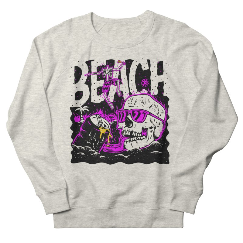 Beach Men's French Terry Sweatshirt by controlx's Artist Shop