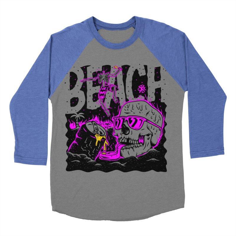 Beach Men's Baseball Triblend Longsleeve T-Shirt by controlx's Artist Shop